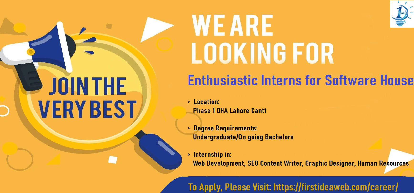 Internships – Web Development – SEO Content Writing – Graphic Designing – Human Resources