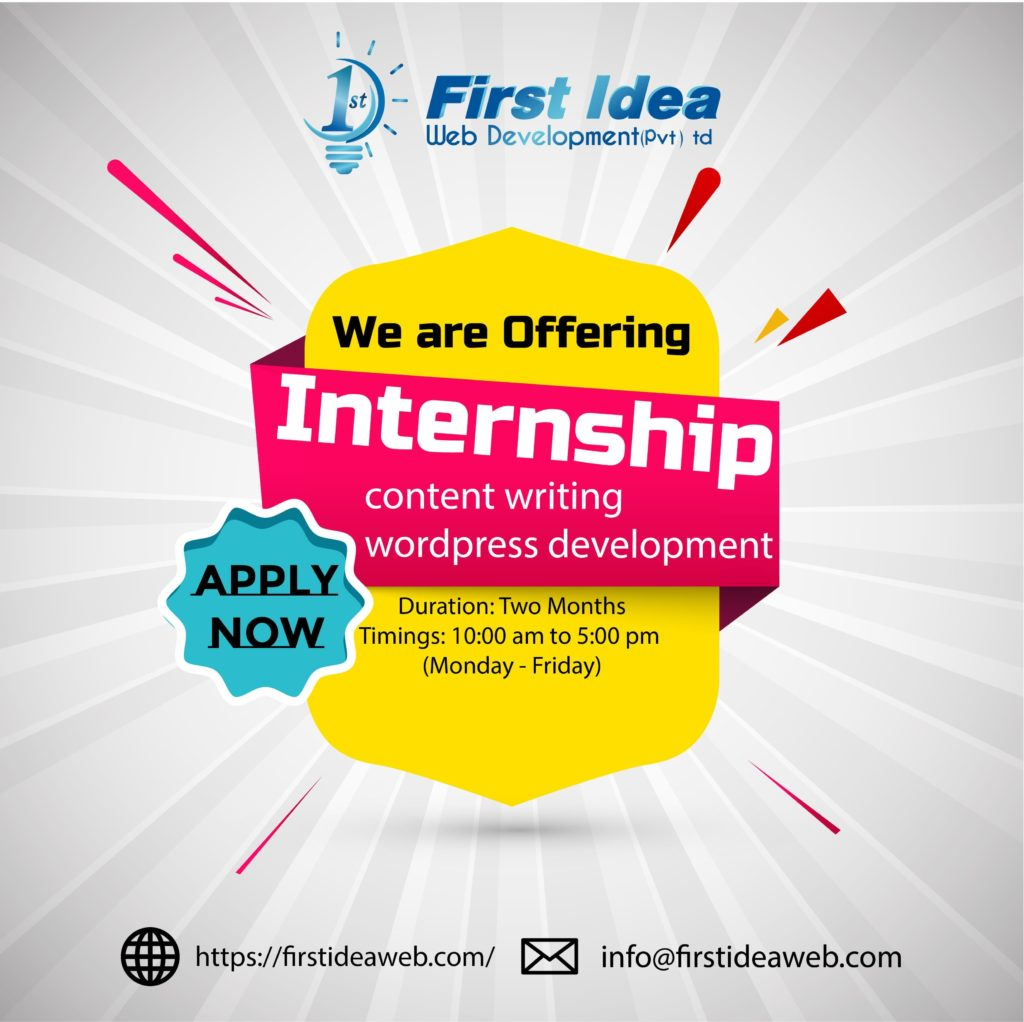 summer internship 2019 front end web developer internship summer 2019 web development internship content writing internship