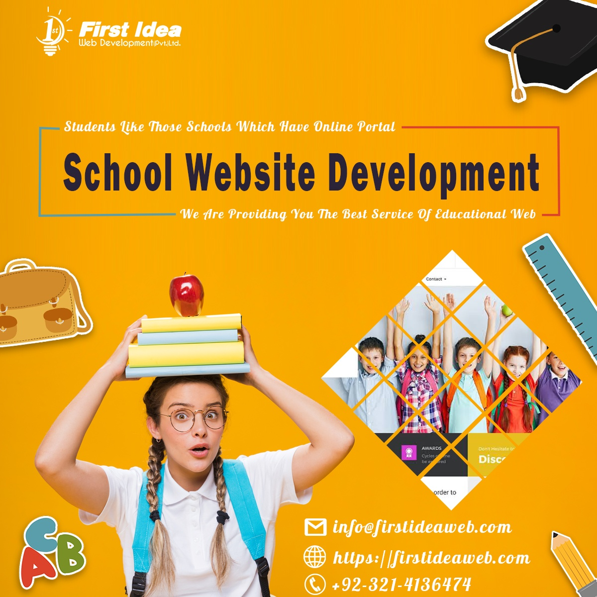 Best School Website Design Companies, School Web Design, Create an education website, Build a school website, school management software development service
