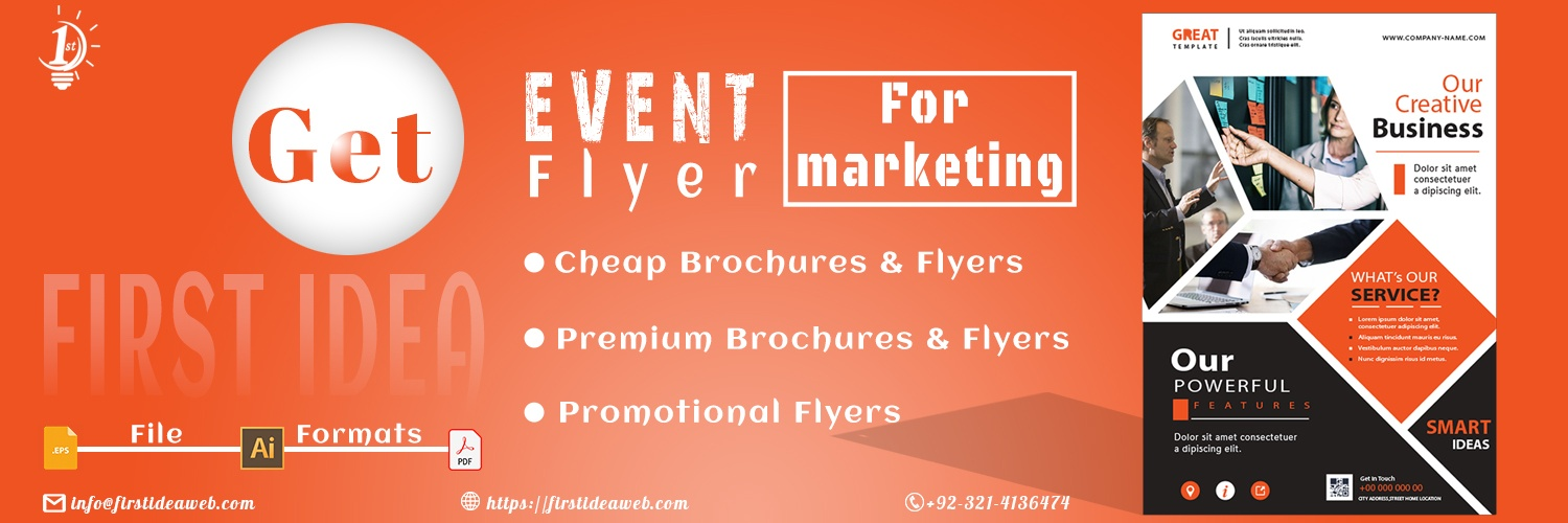 Event Flyer for Marketing – Cheap & Premium Brochures
