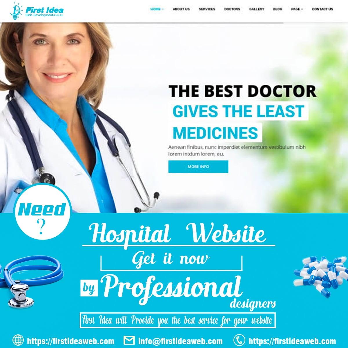 Hospital Management System Software, Web Design for Hospitals, Medical Website Design, Healthcare Web Portal Development, Doctor Website Design