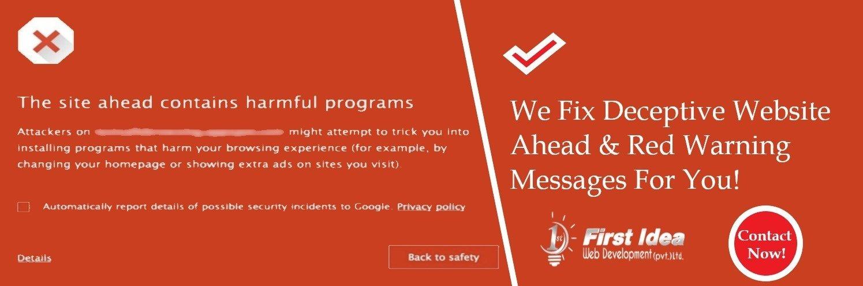 Deceptive Website Ahead Fix Warning – Hire Expert In Lahore