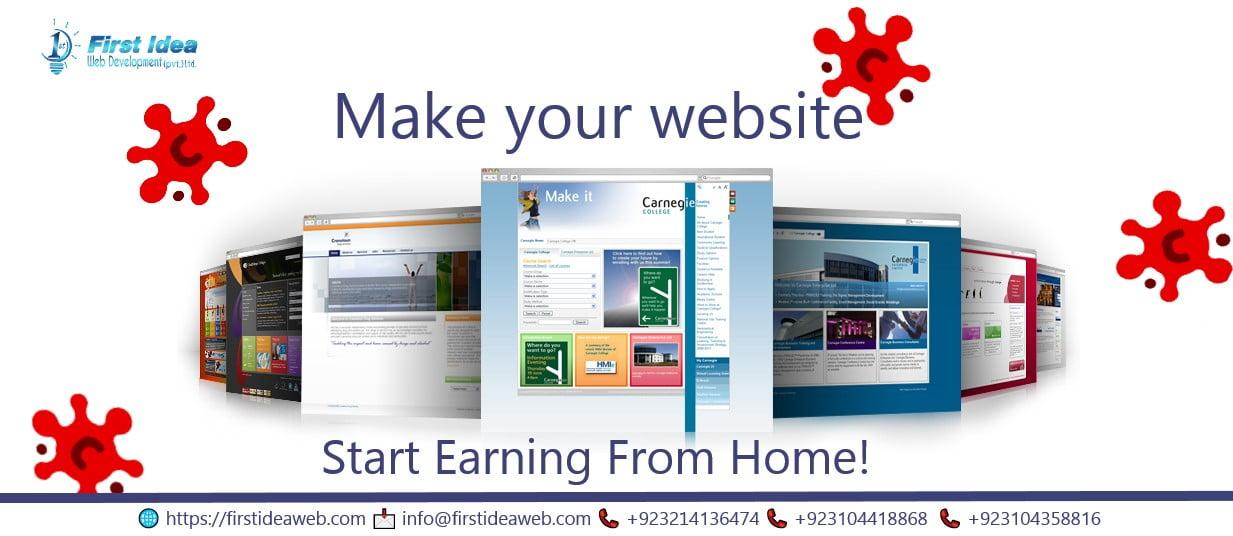 Having severe Business Break Downs in your area? Make Website & Earn Online!